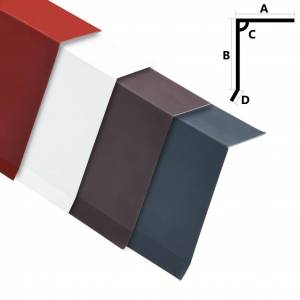 vidaXL Dakrandplaten 5 st L-vormig 170 cm aluminium antraciet