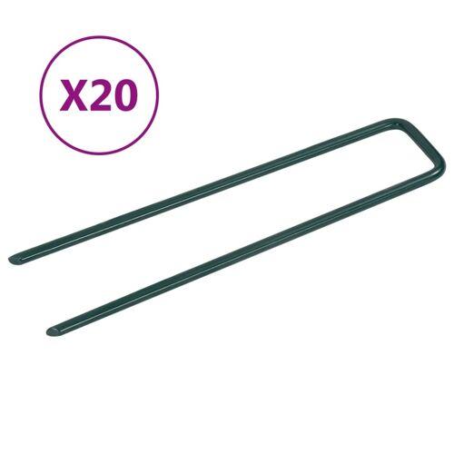 vidaXL Kunstgraspennen 20 st U-vormig ijzer
