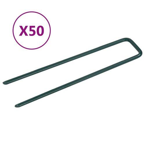 vidaXL Kunstgraspennen 50 st U-vormig ijzer