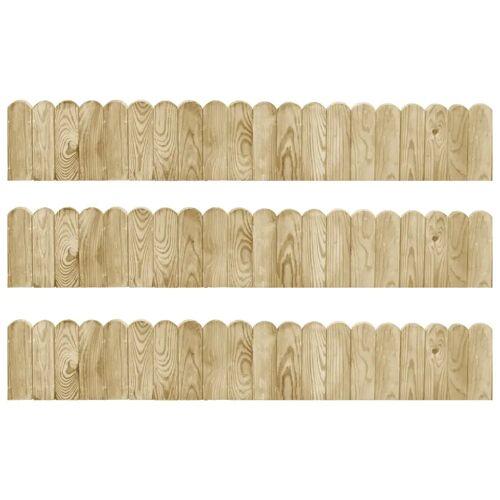 vidaXL Gazonranden 3 st 120 cm geïmpregneerd grenenhout