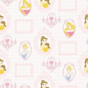 Kids at Home Behang Princess Frames wit en roze