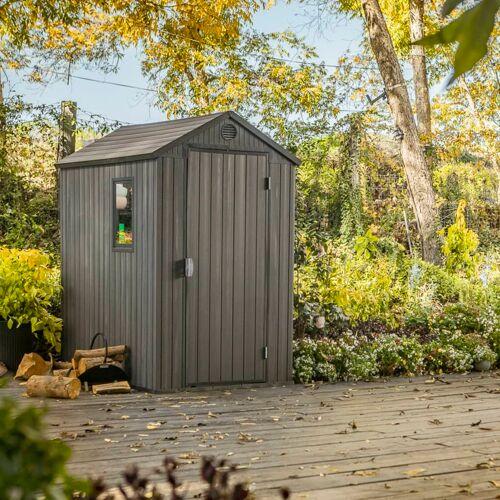 Keter Tuinhuis Darwin 4x6 hout-look grijs