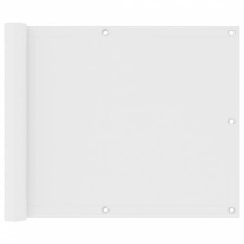 vidaXL Balkonscherm 75x300 cm oxford stof wit