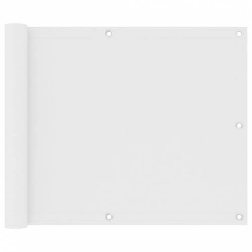 vidaXL Balkonscherm 75x400 cm oxford stof wit