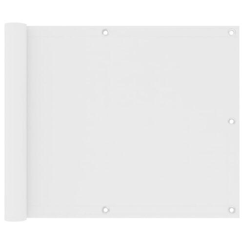 vidaXL Balkonscherm 75x500 cm oxford stof wit