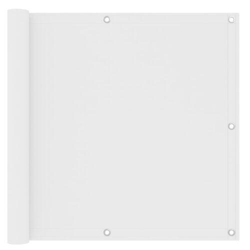 vidaXL Balkonscherm 90x600 cm oxford stof wit