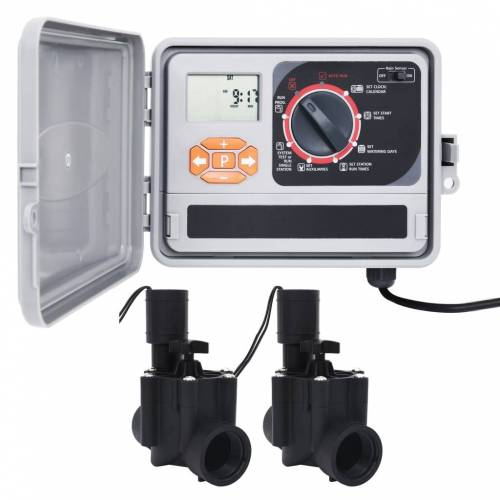 vidaXL Irrigatieregelaar met 2 magneetventielen