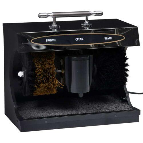 vidaXL Schoenpoetsmachine volautomatisch elektrisch zwart