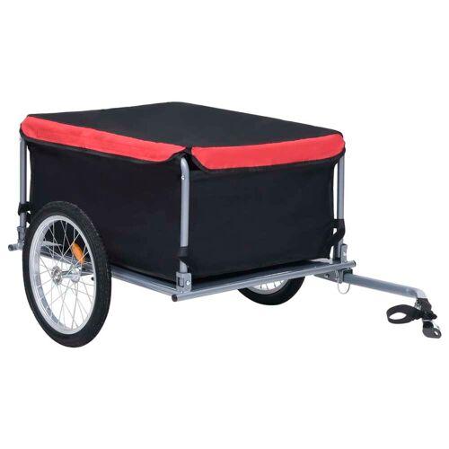 vidaXL Fietskar 65 kg zwart en rood