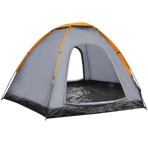 vidaXL Tent 6-persoons grijs