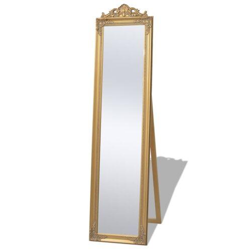 vidaXL Vrijstaande spiegel Barok 160x40cm goud