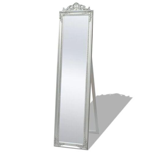 vidaXL Vrijstaande spiegel Barok 160x40cm zilver