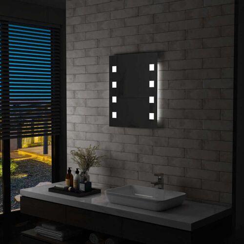 vidaXL Badkamerspiegel LED 50x60 cm