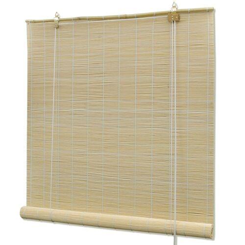 vidaXL Rolgordijn 80x220 cm bamboe natuurlijk