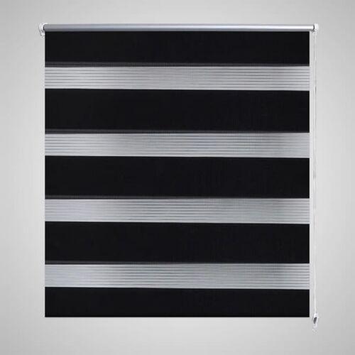 vidaXL Duo rolgordijn 120 x 175 cm zwart