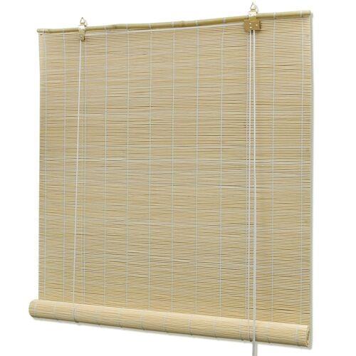 vidaXL Rolgordijn 120x220 cm bamboe natuurlijk