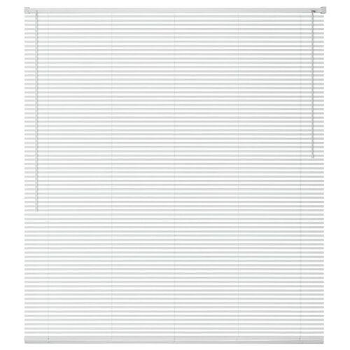 vidaXL Zonwering aluminium 80x130 cm wit