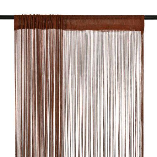 vidaXL Draadgordijnen 100x250 cm bruin 2 st