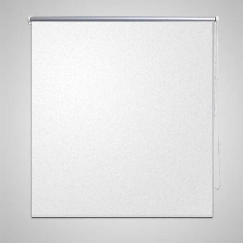 vidaXL Rolgordijn verduisterend 80 x 175 cm wit