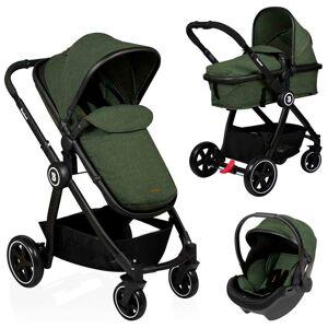 Baninni Kinder-/wandelwagen Otto 3-in-1 olijfgroen