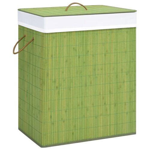 vidaXL Wasmand 100 L bamboe groen
