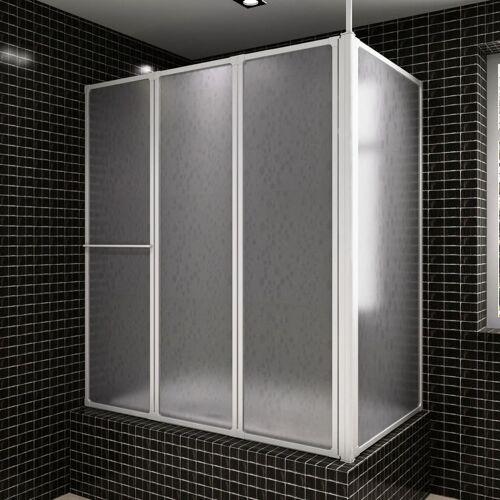 vidaXL Bad en douchescherm L-vorm 70 x 120 x 140 4 panelen