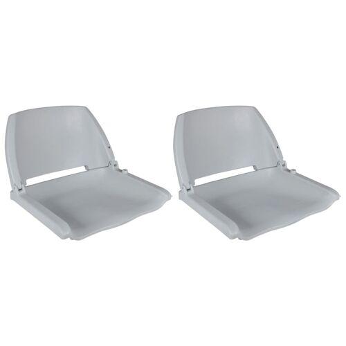 vidaXL Bootstoelen 2 st inklapbare rugleuning 41x51x48 cm grijs