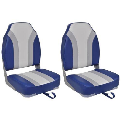 vidaXL Bootstoelen inklapbaar 2 st met hoge rugleuning