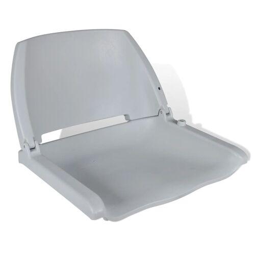 vidaXL Grijze opklapbare bootstoel zonder kussen 41 x 51 x 48 cm