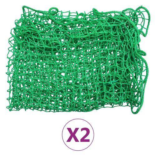 vidaXL Aanhangwagennetten 2 st 1,5x2,2 m PP