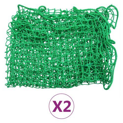 vidaXL Aanhangwagennetten 2 st 2,5x4 m PP