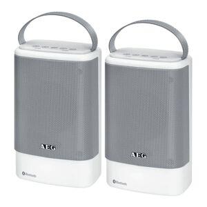 AEG Bluetooth speaker BSS 4833 2 stuks wit en grijs