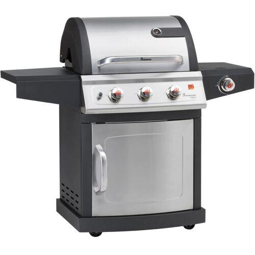Landmann Gasbarbecue met 3 branders en 1 zijbrander Milton 3