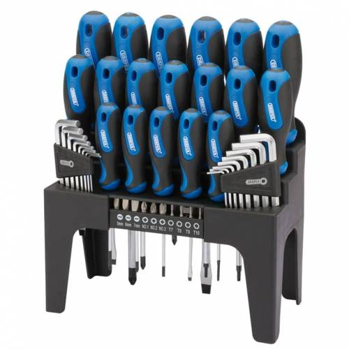 Draper Tools Schroevendraaier, inbus en bit set 44-dlg blauw 81294