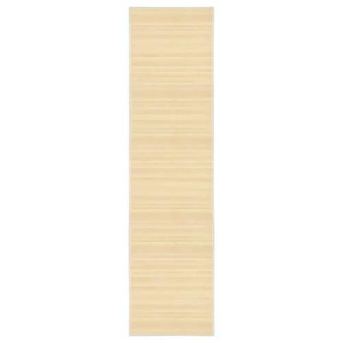 vidaXL Tapijt 80x300 cm bamboe naturel