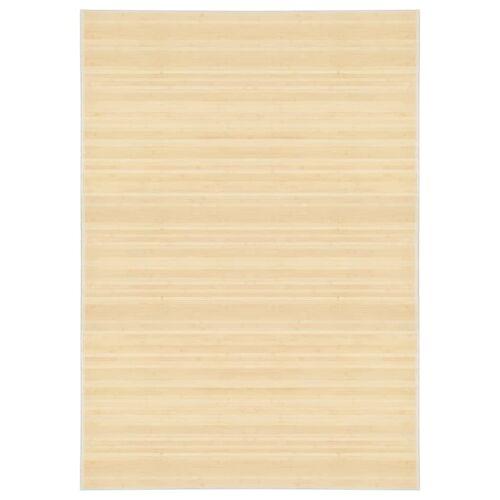 vidaXL Tapijt 160x230 cm bamboe natuurlijk
