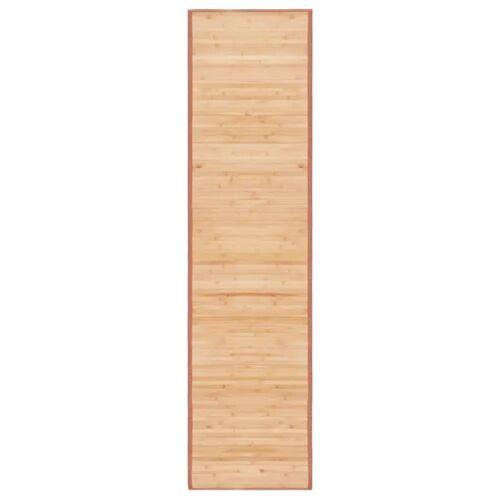 vidaXL Tapijt 80x300 cm bamboe bruin