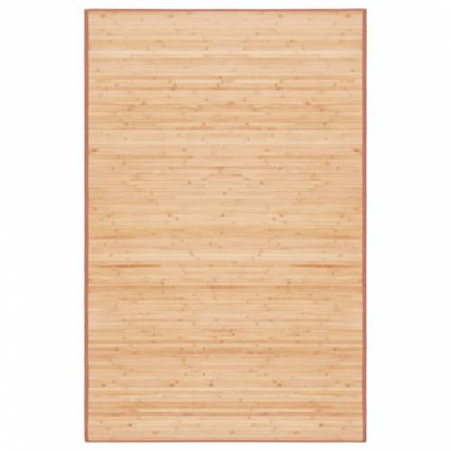 vidaXL Tapijt 100x160 cm bamboe bruin