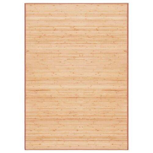 vidaXL Tapijt 120x180 cm bamboe bruin