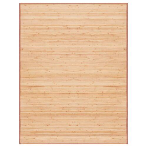 vidaXL Tapijt 150x200 cm bamboe bruin