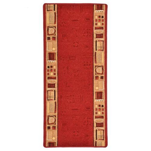 vidaXL Tapijtloper met gelbodem 67x120 cm rood