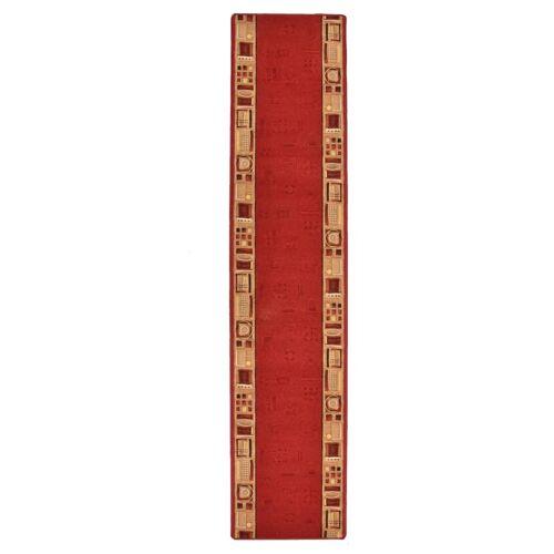 vidaXL Tapijtloper met gelbodem 67x250 cm rood