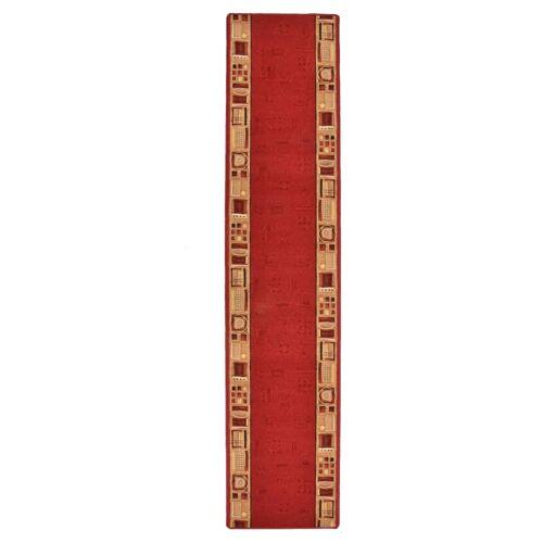 vidaXL Tapijtloper met gelbodem 67x400 cm rood