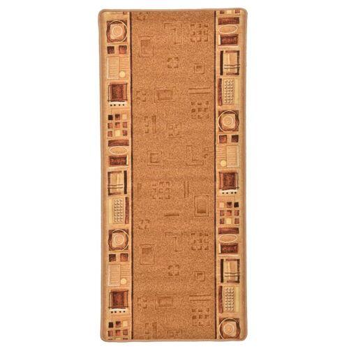 vidaXL Tapijtloper met gelbodem 67x120 cm beige