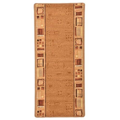 vidaXL Tapijtloper met gelbodem 67x150 cm beige