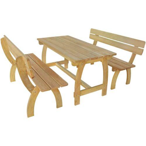 vidaXL Biertafel met 2 banken geïmpregneerd grenenhout