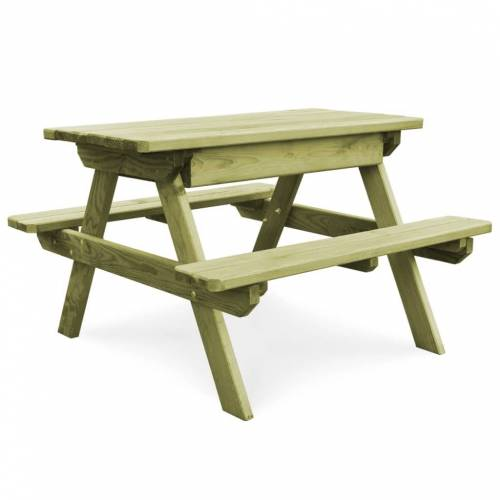 vidaXL Picknicktafel met banken 90x90x58 cm geïmpregneerd grenenhout