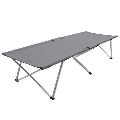 vidaXL Kampeerbed XXL 206x75x45 cm grijs