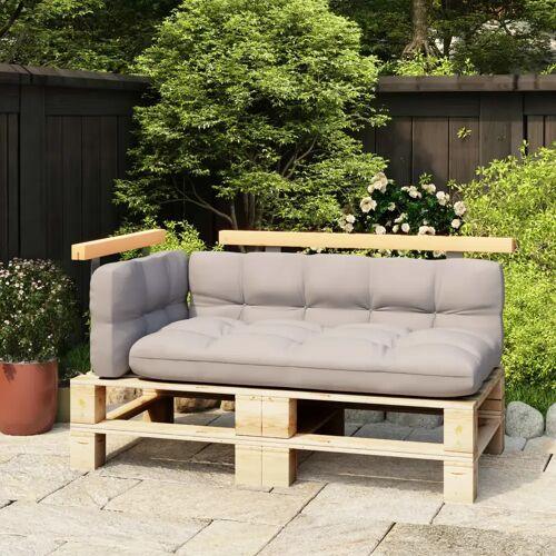 vidaXL Rugleuningen voor palletbank 2 st 110/70 cm massief grenenhout