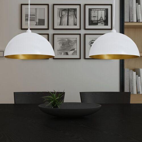 vidaXL Plafondlampen in hoogte verstelbaar halfrond wit 2 st